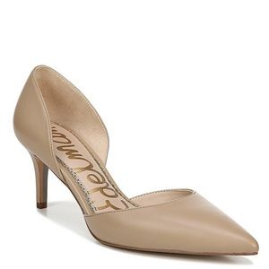 Sam Edelman • nude d'Orsay leather pumps heels